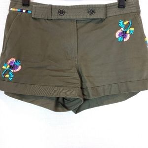 Thakoon Addition Green Embroidered Shorts 2